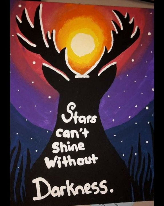 Stars Can't Shine without Darkness - Godbey's Creations
