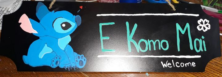 Stitch Welcome Sign - Godbey's Creations