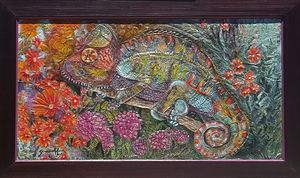 Chameleon in the garden.