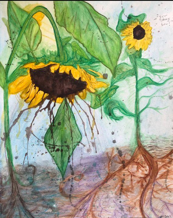Weeping Sunflower - Kristina Rose Garcia