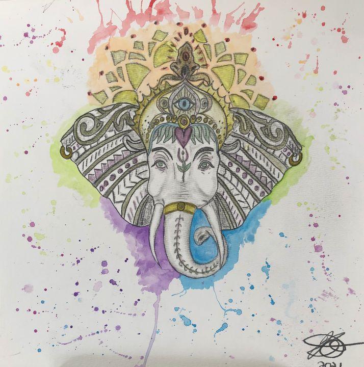 Elephant tattoo commission - Kristina Rose Garcia