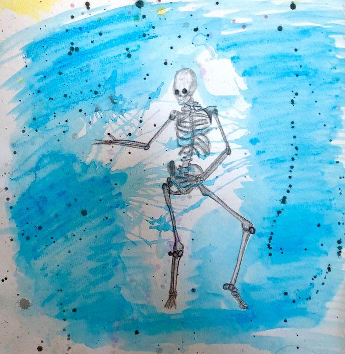 Sassy Skeleton - Kristina Rose Garcia