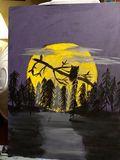 owl , moonlight night