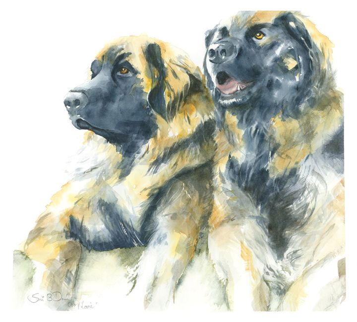 Ollie and Lovie - Watercolors by Susi