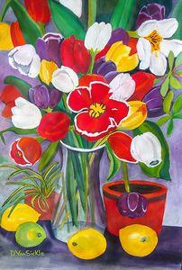 Tulips with Lemons and Lime