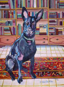 The Black German Shepherd Puppy