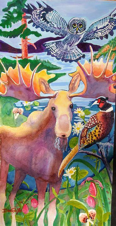 Bull Moose and Friends - Darlene Van Sickle
