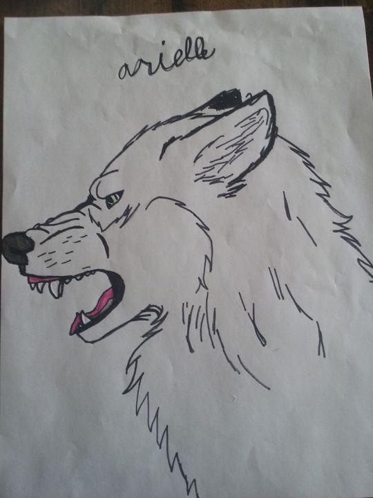 Growling wolf 1 - Arielle needham