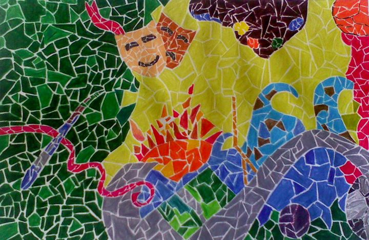 mosaic tiles - nature_art