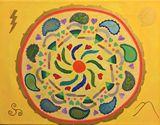 Original Acrylic on Canvas Mandala