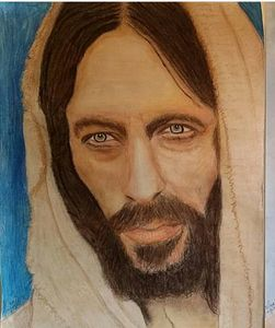 Jesus Christ pastel drawing