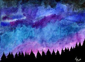 Tree Lined Sky - Terra Rosenberg Art