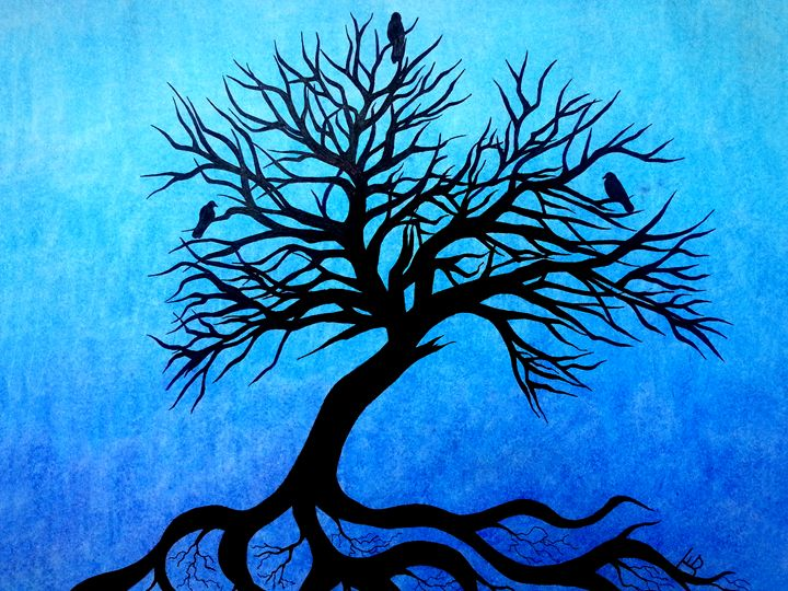 Three Crow Tree - Terra Rosenberg Art