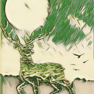The Moon Carrying Elk