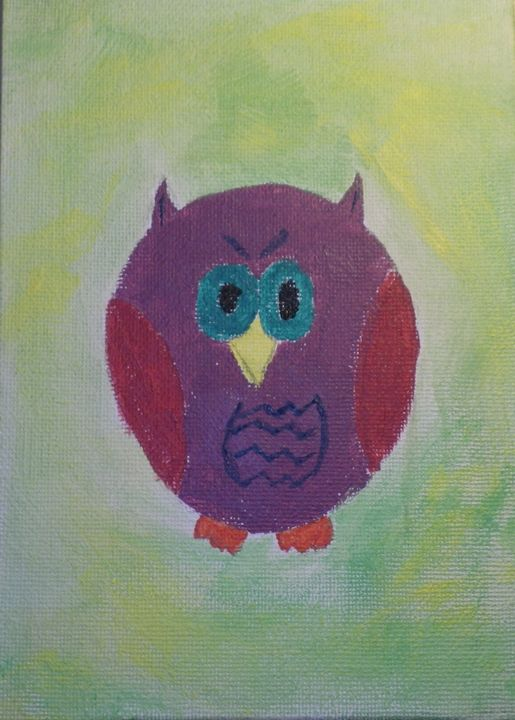 Angry owl - ArtAttack