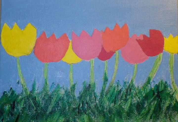 Field of tulips - ArtAttack
