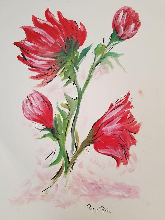 Red flowers - Richard Rueda Gallery