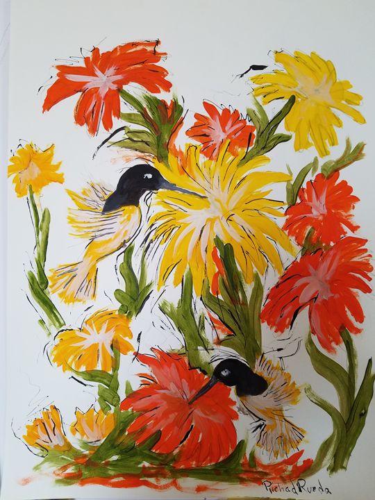 Hummingbirds - Richard Rueda Gallery