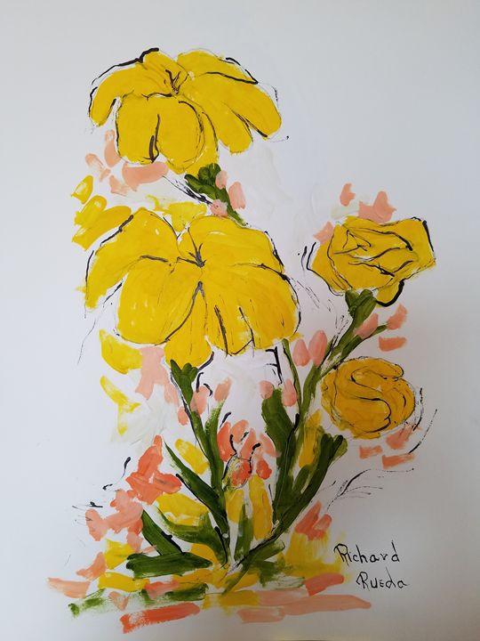 Yellow Flowers - Richard Rueda Gallery