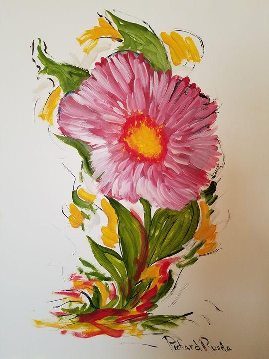 Pink Flower - Richard Rueda Gallery