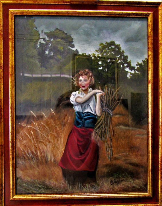 """jeune fille aux fagots - French painter """" Blanchard """""""