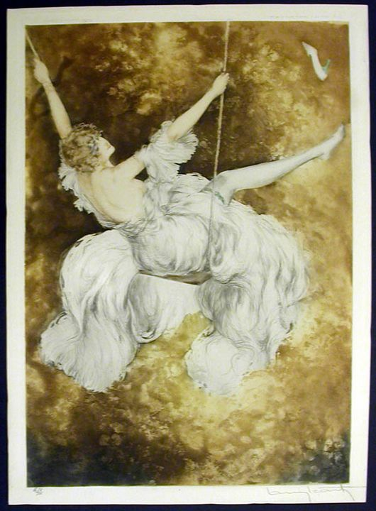 The Swing by Louis Iscart - Alexander's Galleries