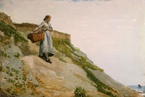 Girl Carrying A Basket