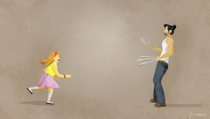 Wolverine Starled by an Admirer - Jessa C.