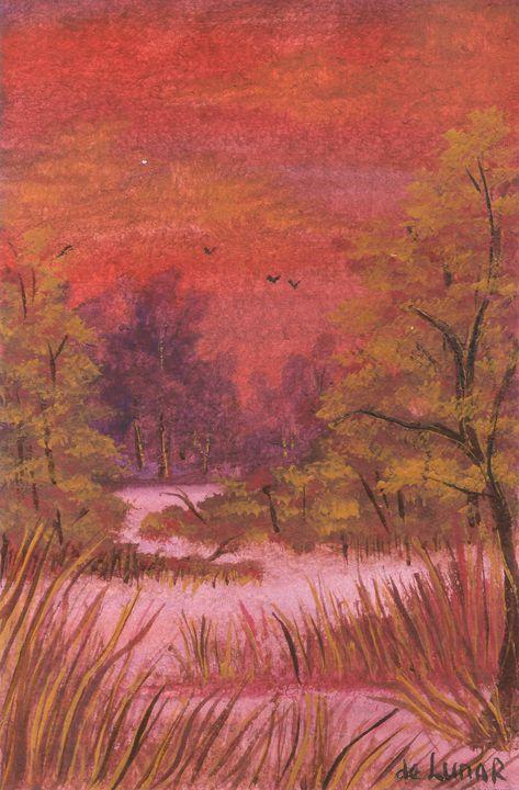 Evening landscape - Veronika de Lunar