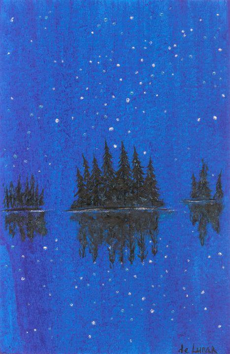 Dark blue water - Veronika de Lunar