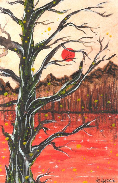 Red lake shore - Veronika de Lunar