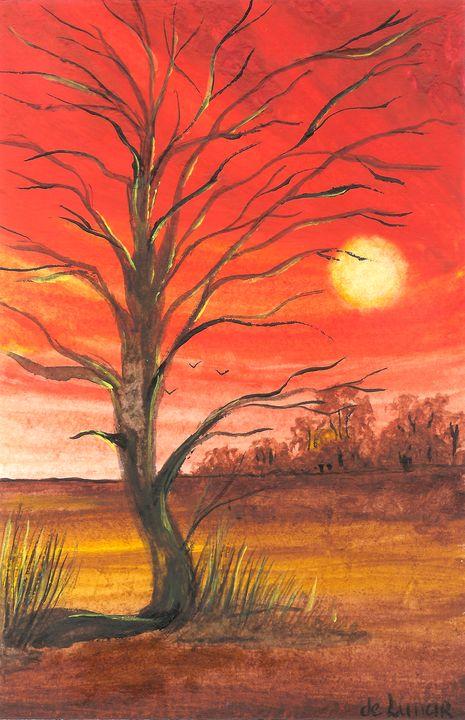 Old tree on the field - Veronika de Lunar