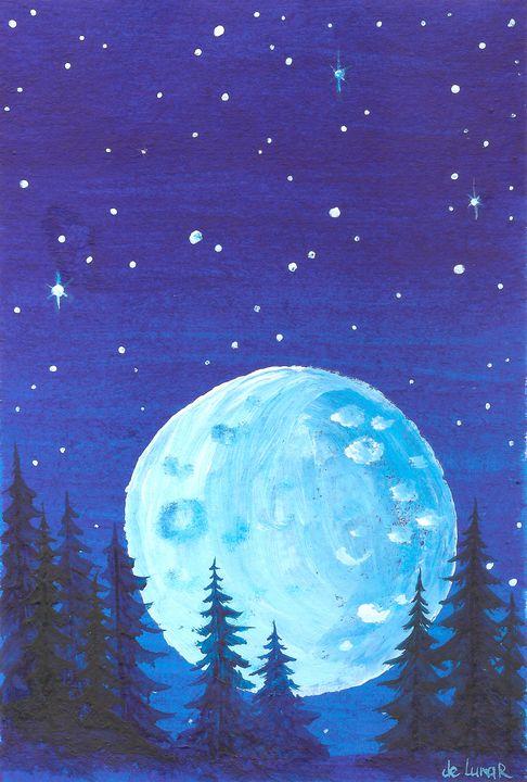 Moon and fir forest - Veronika de Lunar