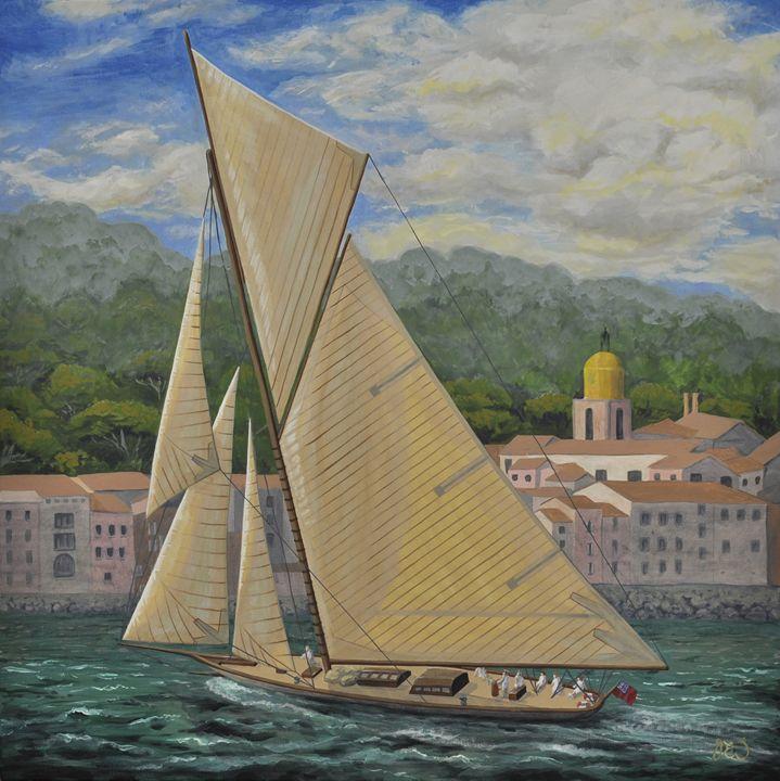 YACHT SAILING PASSED SAINT TROPEZ - James Ineson