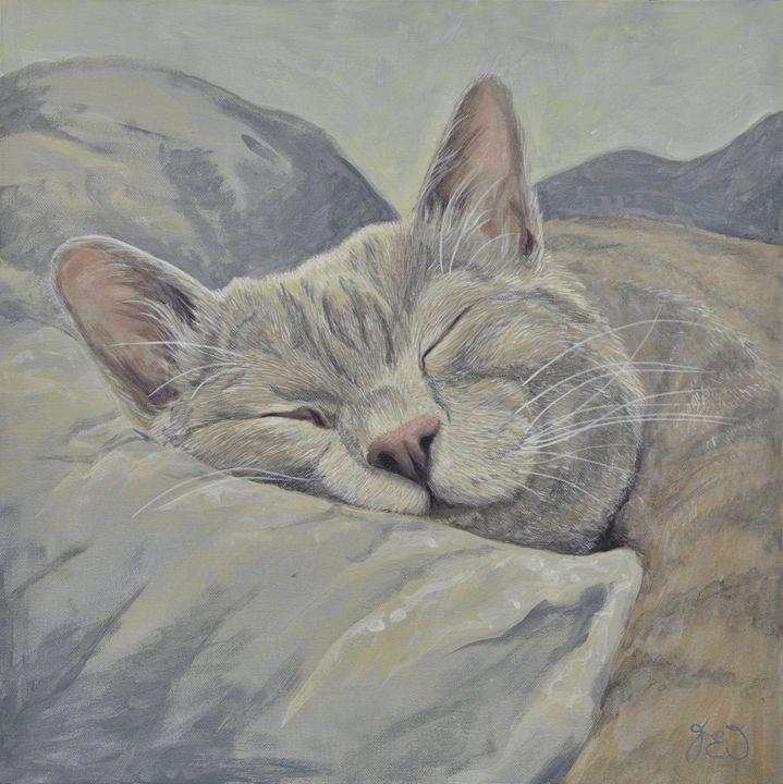 Lazy Days Sleeping Cat 2 - James Ineson