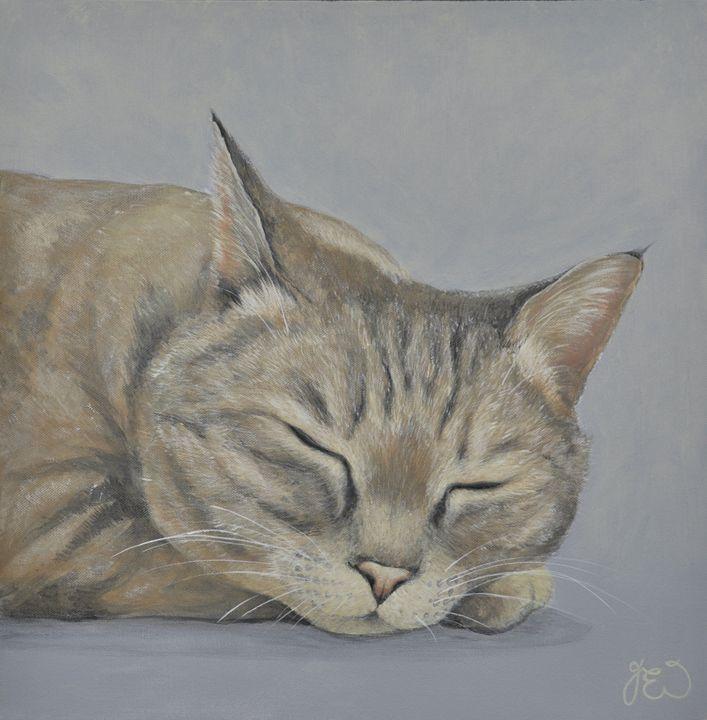 Lazy Days Sleeping Cat 3 - James Ineson