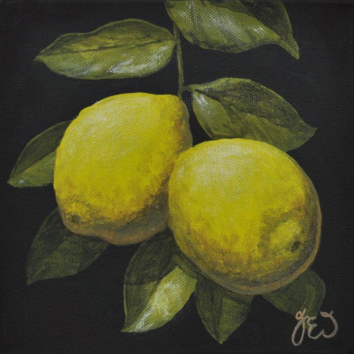 Two hanging lemons - James Ineson