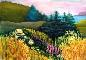 Mendocino Meadow - Judith Greenleaf Fine Arts