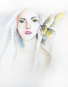 Ethereal Girl with Butterfly