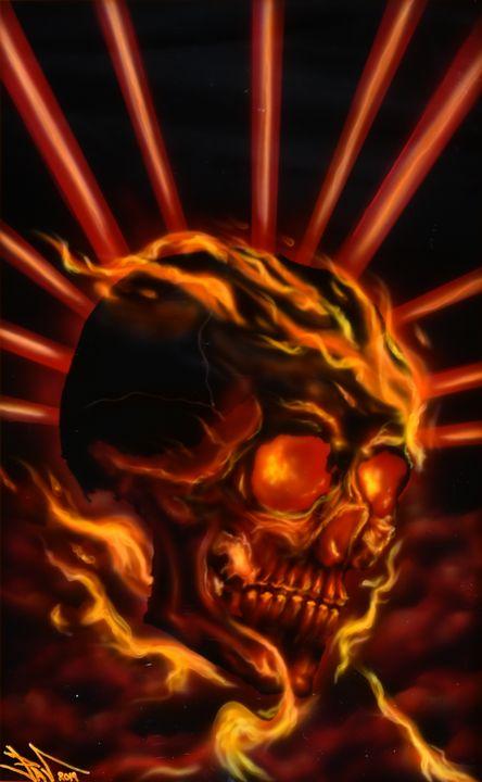 Flaming Sckull - Pavel Kroupko