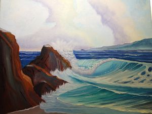 Scenic view - Affordable oil paintings