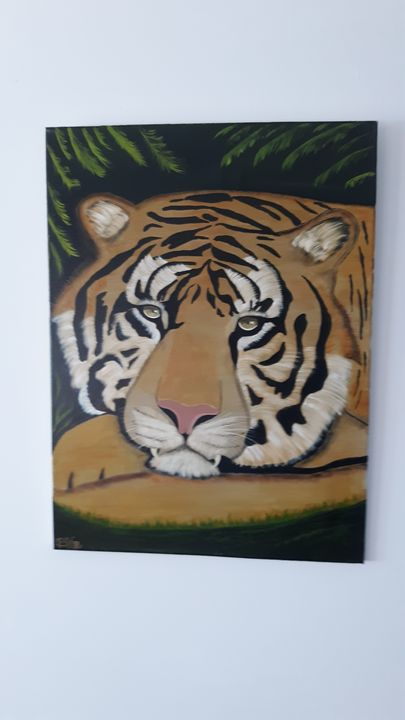 Tiger at rest - Affordable oil paintings