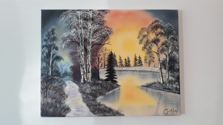 Winter wonderland - Affordable oil paintings
