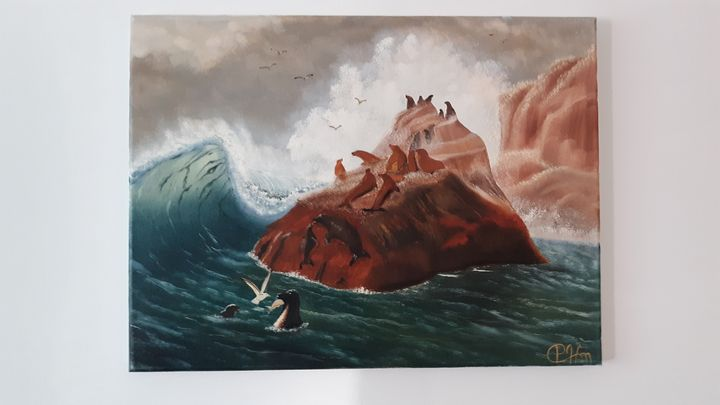 Seal island - Affordable oil paintings