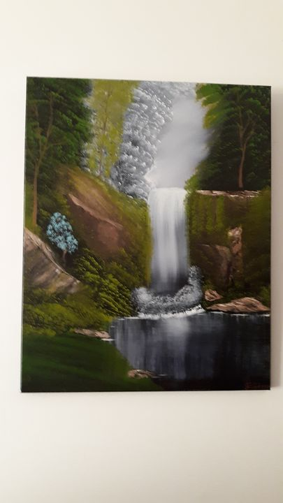 Beautiful  waterfall - Affordable oil paintings