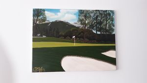 Golf  course - Affordable oil paintings