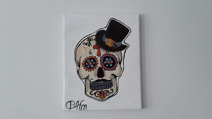 Halloween skull male - Affordable oil paintings