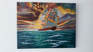 Fantasy ship - Affordable oil paintings