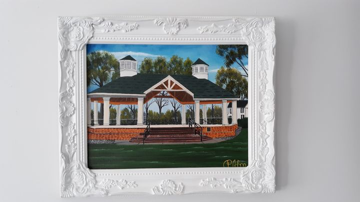 Gazebo. On paradise green  stratford - Affordable oil paintings