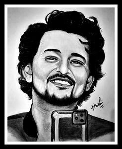 A portrait sketch of darshan raval